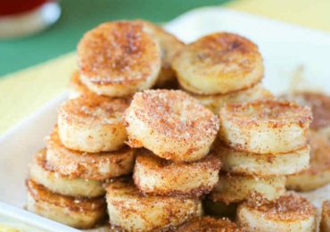 Delicious Healthy and Easy Pan Fried Cinnamon Bananas