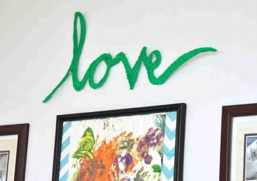 Add Some Extra Love to Your Home Decor With This Simple DIY Yarn-Wrapped Word