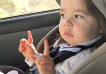 Watch Adorable Toddler Waiting For The Beat To Drop In Her Favorite Song