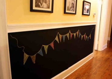 This DIY Chalkboard Wall Will Help Your Kids Forget About Using The Permanent Marker on The Wall