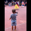 Chivalry is not dead! Little Boy Tips His Hat to Princesses at Disney World Parade